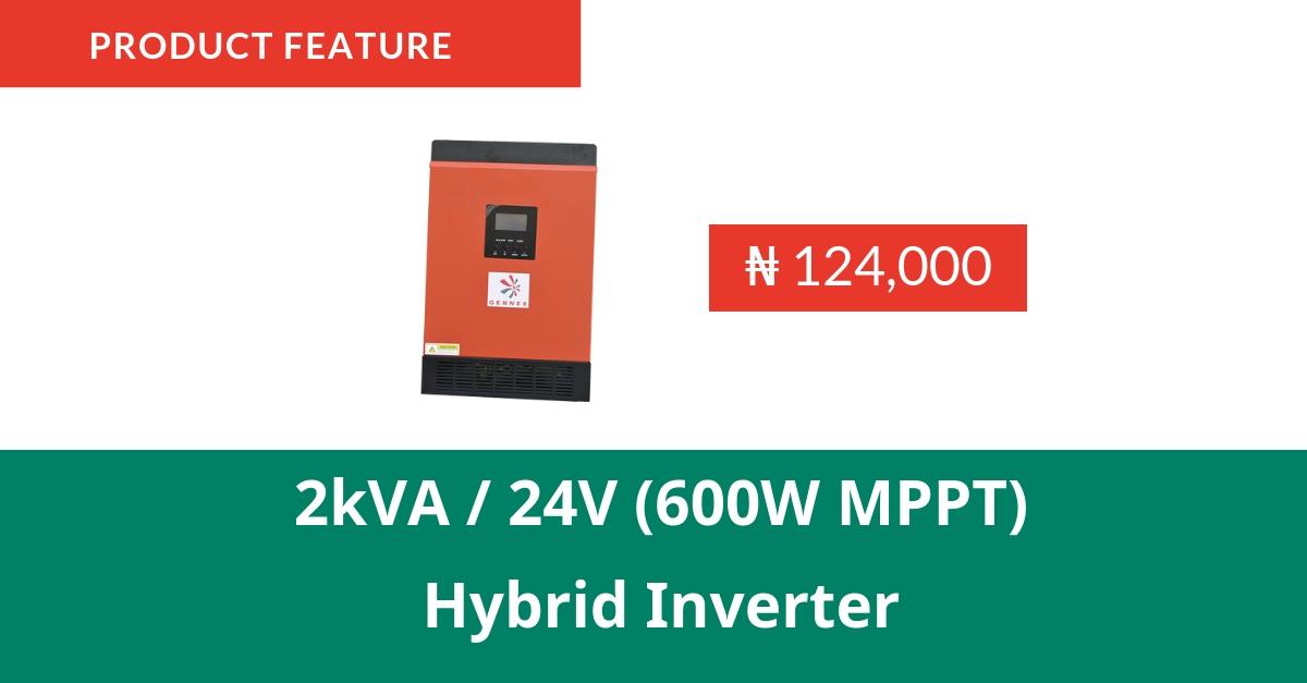 Product Feature : Gennex 2kVA/24V (600W MPPT) Hybrid Inverter