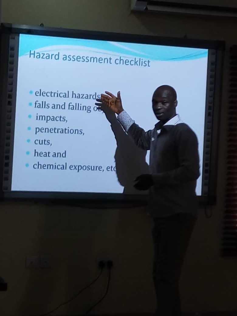 Hazard Assessment Checklist : Engineer Oladosu