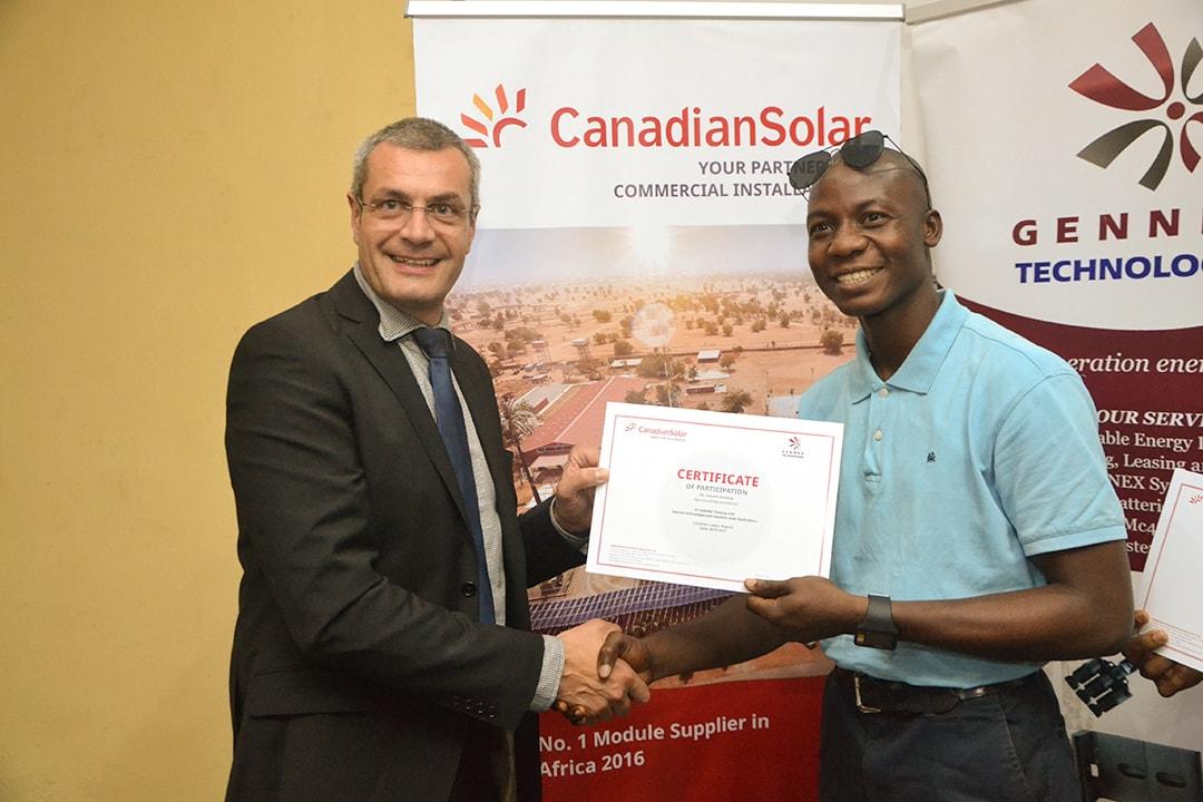 Certification at Gennex Solar Academy