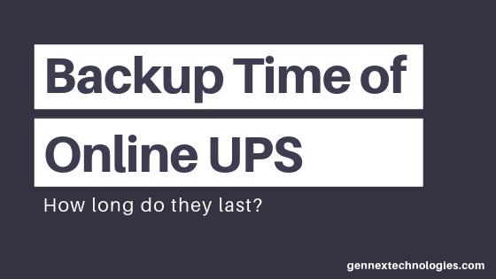 Back up time for Online UPS Featured